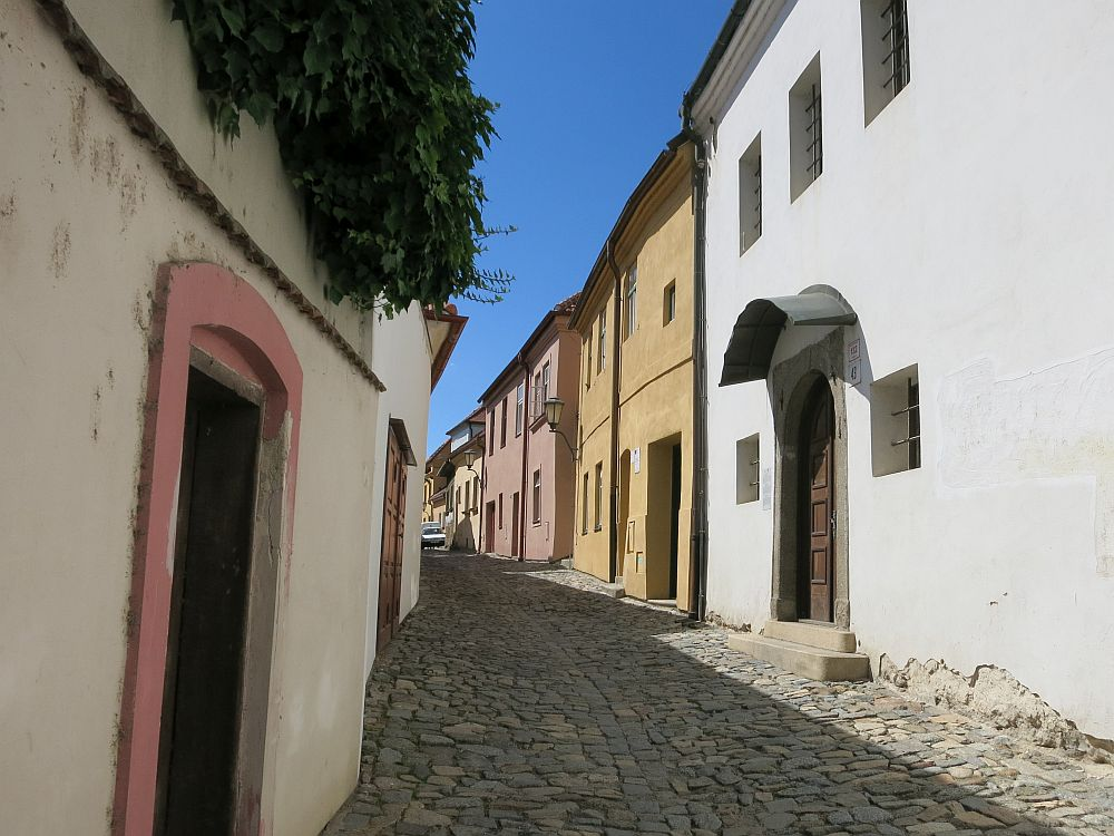 A street in the old Jewish Quarter of Trebic, Czech Republic