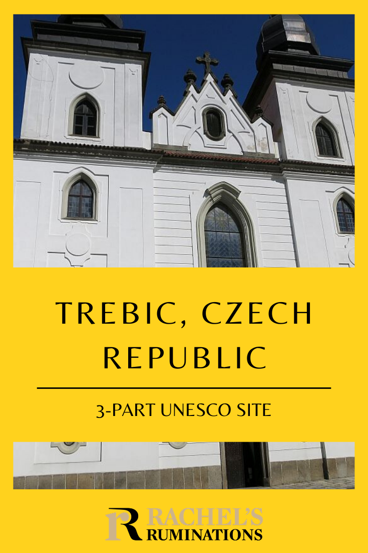 Trebic, Czech Republic has a UNESCO site made up of three sites: the old Jewish Quarter, the old Jewish cemetery, and a Catholic Basilica, and they're all worth seeing. #trebic #czechia #czechrepublic #unescosite #jewishquarter #jewishhistory #synagogues via @rachelsruminations