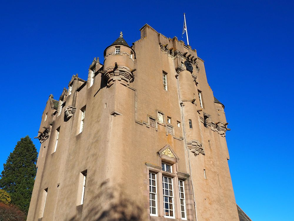 The main tower part of Crathes Castle in Aberdeenshire, Scotland