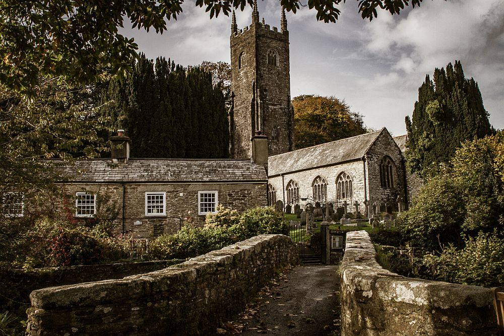 A pretty church in Altarnun, near Camelford, which may or may not be Camelot.