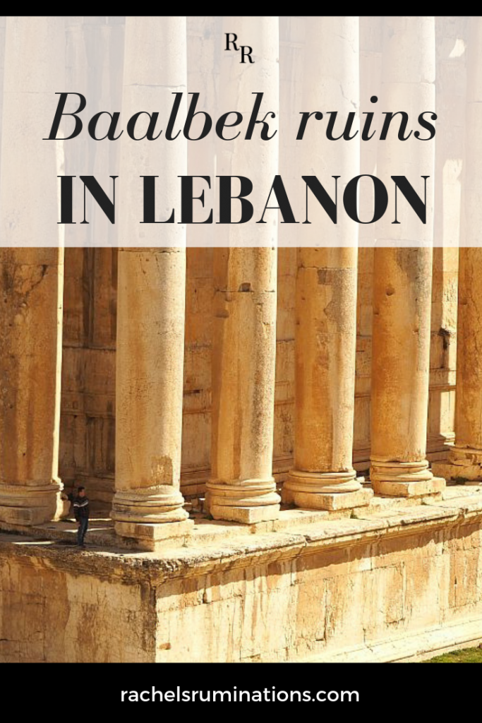 On my recent trip to Lebanon, I was just blown away by the Baalbek ruins: a magnificent set of Roman temples in the Beq'aa Valley and a designated UNESCO World Heritage site. Click to read all about Baalbek! #Baalbek #Lebanon #unescoworldheritage #unescoworldheritagesite #visitlebanon #romanruins #romanarchitecture