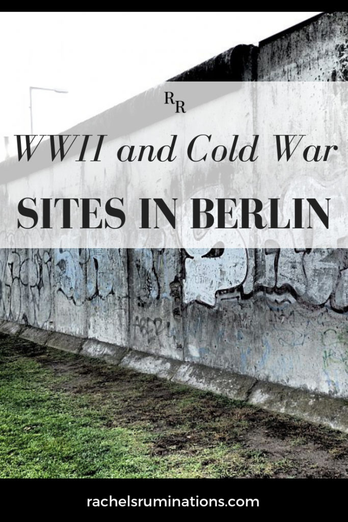 Berlin is a wonderfully diverse and dynamic city and, for a tourist with an interest in history, there are plenty of WWII and Cold War sites to visit. #berlin #wwIItourism #coldwartourism #Berlintourism