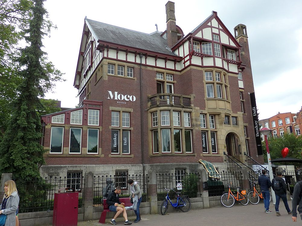 The Moco Museum in Amsterdam is in what used to be a large house.