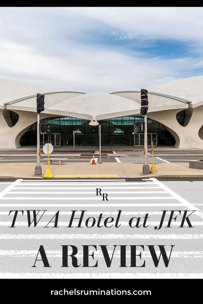 "My first thought on seeing the new TWA Hotel at JFK Airport was ""Wow, this is much smaller than I remember."" Click to read my independent review of this hotel in the renovated TWA Terminal at JFK airport. #twahotel #jfkairport #twaterminal"