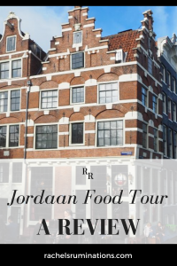 Pinnable image: Text: Jordaan Food Tour A Review Image: Papeneiland Cafe's building