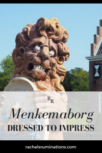 PInnable image Text: Menkemaborg: Dressed to Impress Image: a statue of a lion looking forlorn