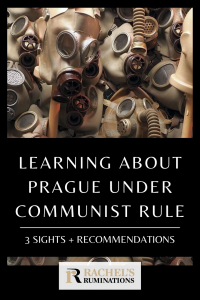 Pinnable image Text: Learning about Prague under communist rule: 3 sights + recommendations Image: a cluster of gas masks