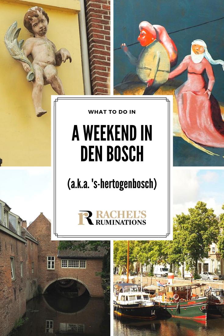 Read here about what to do in Den Bosch (a.k.a. 's-Hertogenbosch) in the Netherlands in a weekend visit away from the tourist crowds: historical sights to see, street art, museums, sidewalk cafes, etc. #DenBosch @bezoekdenbosch via @rachelsruminations