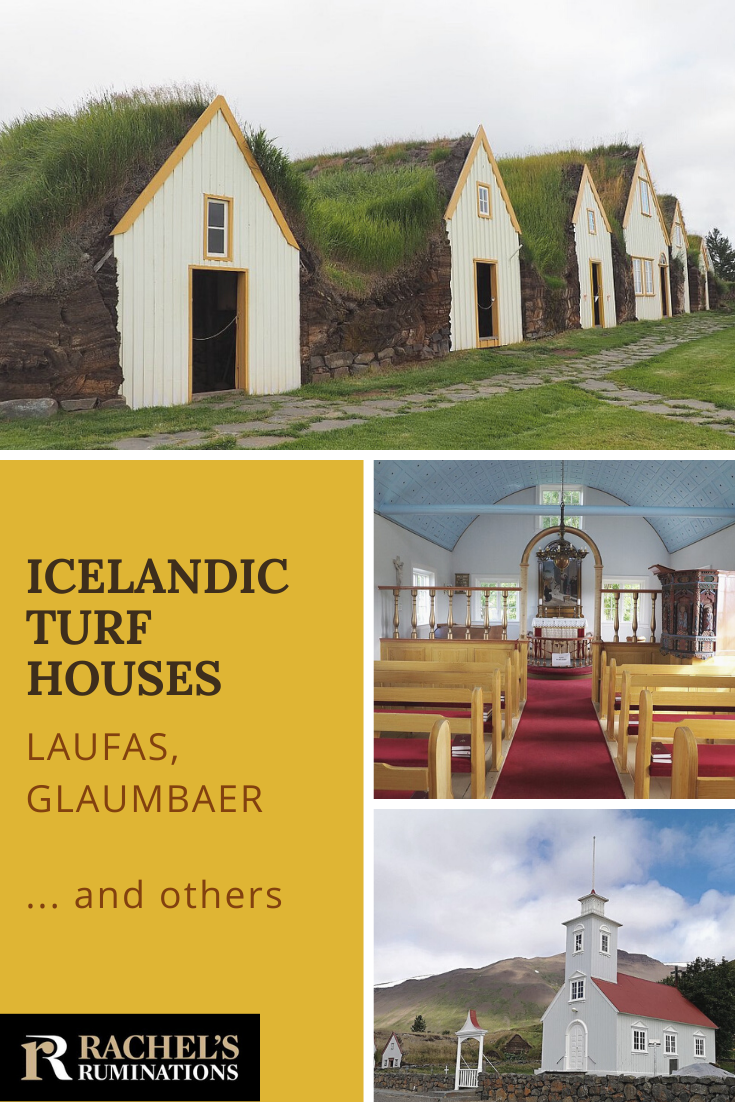 Few Icelandic turf houses still exist, but the few that do give a glimpse of how Icelanders used to live. Read about two special ones here: Laufas and Glaumbaer (and a few others)! #Iceland #turfhouses via @rachelsruminations