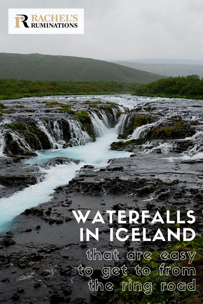 Pinnable image Text: Waterfalls in Iceland that are easy to get to from the ring road Image: Bruarfoss waterfall