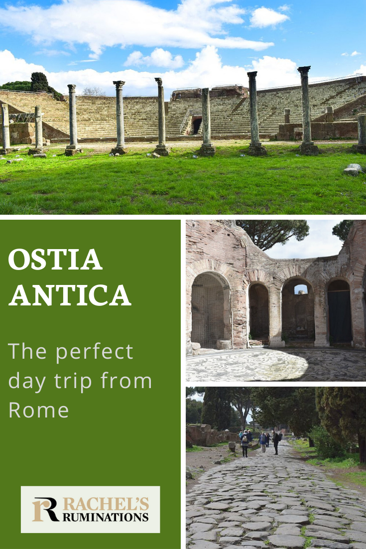 Ostia Antica was an important ancient port city, supplying goods to Rome. Its extensive ruins are a perfect day trip from Rome. Ostia Antica | OstiaAntica | Rome | Romanruins via @rachelsruminations