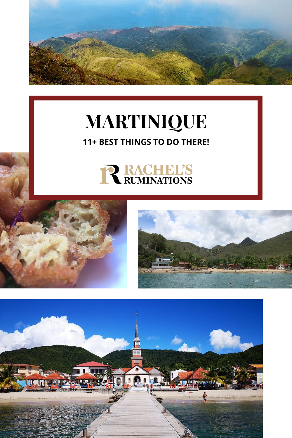 Martinique has it all - pristine beaches, secluded bays, scenic hikes, and panoramic views. Here are the 11 best things to do in Martinique! Read about all the best sights to see, hikes and activities on this beautiful Caribbean island! via @rachelsruminations